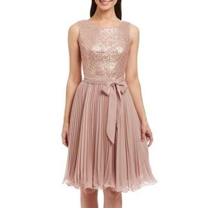 S.L.Fashions Pink Belted Dress